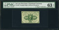 Fractional Currency:First Issue, Fr. 1243 10¢ First Issue Inverted Back PMG Choice Uncirculated 63 EPQ.. ...