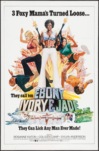 "Ebony, Ivory and Jade (Dimension, 1976). One Sheet (27"" X 41"") & Photos (2) (8"" X 10""). Action..."