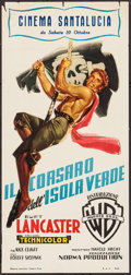 "Movie Posters:Adventure, The Crimson Pirate (Warner Brothers, 1953). Italian Locandina (13"" X 27.5""). Adventure.. ..."