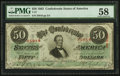 Confederate Notes:1863 Issues, T57 $50 1863 PF-3 Cr. 408.. ...
