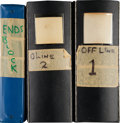 Football Collectibles:Others, 1960's Sid Gillman Personal Playbooks Lot of 3- The Creator of the West Coast Offense. ...