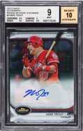 Autographs:Sports Cards, 2012 Topps Finest Mike Trout Rookie Mystery Exchange Autograph #3Beckett Mint 9....