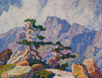Birger Sandzén (American, 1871-1954) Near the Timberline, Rocky Mountains, Colorado, circa 1919 Oil