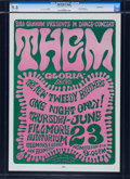 Music Memorabilia:Posters, Them/The New Tweedy Brothers Fillmore Concert Poster BG-12 (BillGraham, 1966)....