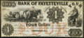Obsoletes By State:North Carolina, Fayetteville, NC- Bank of Fayetteville $4 Dec. 15, 1849 G8a. ...