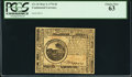 Colonial Notes:Continental Congress Issues, Continental Currency May 9, 1776 $6 PCGS Choice New 63.. ...