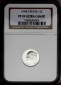Proof Roosevelt Dimes: , 1998-S 10C Silver PR70 Deep Cameo NGC. NGC Census: (163/0). PCGSPopulation (35/0). Numismedia Wsl. Price: $220. (#95287)...