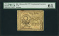 Colonial Notes:Continental Congress Issues, Continental Currency February 26, 1777 $30 PMG Choice Uncirculated 64.. ...
