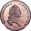 German States:Bavaria, German States: Bavaria. Karl Theodor 1/2 Taler 1779 MS63 NGC,...