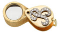 Estate Jewelry:Other , Diamond, Gold Jeweler's Loupe. ...