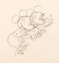 Animation Art:Production Drawing, Puppy Love Mickey Mouse and Minnie Production Drawing (WaltDisney, 1933). ...