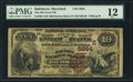 National Bank Notes:Maryland, Baltimore, MD - $10 1882 Brown Back Fr. 490 The Old Town NB Ch. #(E)5984. ...