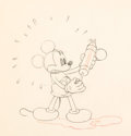 Animation Art:Production Drawing, The Worm Turns Mickey Mouse Animation Drawing (Walt Disney,1937). ...