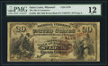 National Bank Notes:Missouri, Saint Louis, MO - $20 1882 Brown Back Fr. 498 The NB of CommerceCh. # 4178. ...