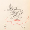Animation Art:Production Drawing, Donald Duck Mickey's Fire Brigade Animation Drawing (Walt Disney, 1935)....