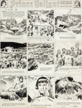 Original Comic Art:Comic Strip Art, Hal Foster Prince Valiant #250 Sunday Comic Strip OriginalArt dated 11-23-41 (King Features Syndicate, 1941)....