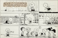 Charles Schulz Peanuts Sunday Comic Strip Charlie Brown and Friends Original Art dated 8-9-53 (United Feature Synd