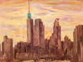 Fine Art - Painting, American:Modern  (1900 1949)  , Guy Carleton Wiggins (American, 1883-1962). Dallas Sunset,1949. Oil on canvas. 30 x 40 inches (76.2 x 101.6 cm). Signed...
