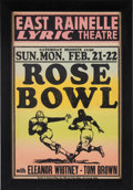 """Football Collectibles:Others, 1936 """"Rose Bowl"""" Promotional Movie Poster...."""
