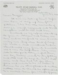 Baseball Collectibles:Others, 1966 Duke Snider Handwritten Letter to Dodgers GM Buzzie Bavasi....