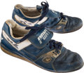 Baseball Collectibles:Others, 1980's George Brett Game Worn Kansas City Royals Cleats. ...