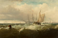 Fine Art - Painting, American:Antique  (Pre 1900), Edward Moran (American, 1829-1901). Storm Off New Castle,Delaware, 1857. Oil on canvas. 24 x 36 inches (61.0 x 91.4cm)...