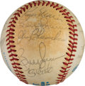 Baseball Collectibles:Balls, 1984 New York Yankees Old-Timers' Day Multi Signed Baseball with DiMaggio & Maris. ...