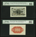 Fractional Currency:Third Issue, Fr. 1253SP 10¢ Third Issue Wide Margin Pair PMG Gem Uncirculated 66 EPQ.. ... (Total: 2 notes)
