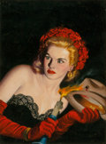 Paintings, Rafael De Soto (American, 1904-1987). Spend Killer, Spend!, Black Mask pulp magazine cover, July 1945. Oil on board. 19 ... (Total: 2 Items)