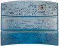 Baseball Collectibles:Others, New York Yankees Legends Multi Signed Yankee Stadium Seatback. ...