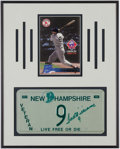 Baseball Collectibles:Others, Ted Williams Signed License Plate Display....