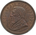 South Africa, South Africa: Republic Penny 1892 MS65 Brown PCGS,...