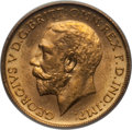 Australia, Australia: George V gold Sovereign 1911-S MS64 PCGS,...
