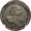 Russia, Russia: Peter I 1/2 Rouble (Poltina) 1720 VF Details (Surface Hairlines) NGC,...