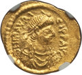 Ancients:Byzantine, Ancients: Maurice Tiberius (AD 582-602). AV semissis (2.22 gm)....