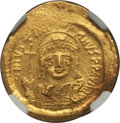 Ancients:Byzantine, Ancients: Justinian I the Great (AD 527-565). AV solidus (4.49gm)....