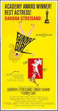 "Movie Posters:Musical, Funny Girl (Columbia, 1968). Three Sheet (41"" X 79"") Academy Award Style. Musical.. ..."