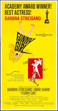 "Funny Girl (Columbia, 1968). Three Sheet (41"" X 79"") Academy Award Style. Musical"