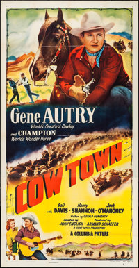 "Cow Town (Columbia, 1950). Three Sheet (41"" X 80""). Western"
