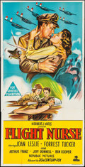"Movie Posters:War, Flight Nurse (Republic, 1953). Australian Three Sheet (40"" X 79"").War.. ..."