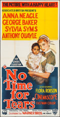"Movie Posters:Drama, No Time for Tears (Associated British-Pathé Limited, 1957). Three Sheet (40"" X 79""). Drama.. ..."