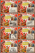 "Movie Posters:Action, Allegheny Uprising & Other Lot (RKO, 1939). Mexican Lobby Cards(16) (12.5"" X 16.25""). Action.. ... (Total: 16 Items)"