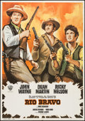 "Movie Posters:Western, Rio Bravo (Warner Brothers, R-1972). Spanish One Sheet (27.5"" X 39.5""). Western.. ..."