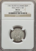 Netherlands East Indies, Netherlands East Indies: Holland silver Duit 1761 MS62 NGC,...