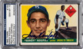 Baseball Cards:Singles (1950-1959), Signed 1955 Topps Sandy Koufax #123 PSA/DNA Gem Mint 10. ...