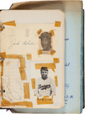 Baseball Collectibles:Others, 1950's Baseball Greats Signed Autograph Book with Two Jackie Robinson Signatures. ...