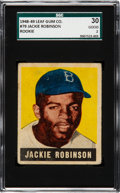 Baseball Cards:Singles (1940-1949), 1948 Leaf Jackie Robinson #79 SGC 30 Good 2....