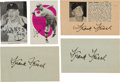 Baseball Collectibles:Photos, 1940's Frankie Frisch Signed Magazine Photographs Lot of 5. ...
