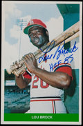 Baseball Cards:Lots, Lou Brock Signed Cards Lot of 50 cards. ...