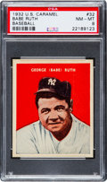 Baseball Cards:Singles (1930-1939), 1932 U.S. Caramel Babe Ruth #32 PSA NM-MT 8 - Only Two Higher! ...